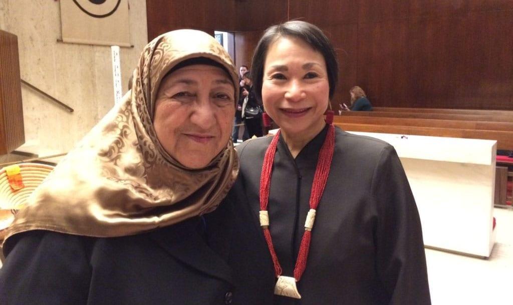 Sakena Yacoobi and Audrey Kitagawa