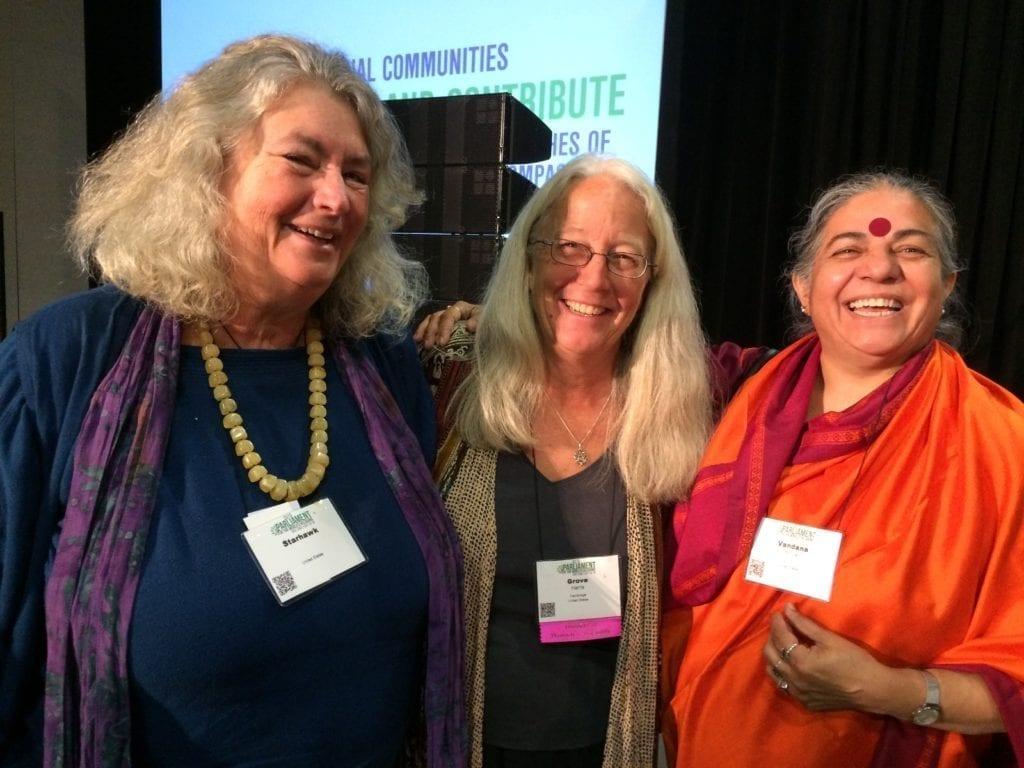 Starhawk, Grove Harris, and Vandana Shiva, Salt Lake City, 2015