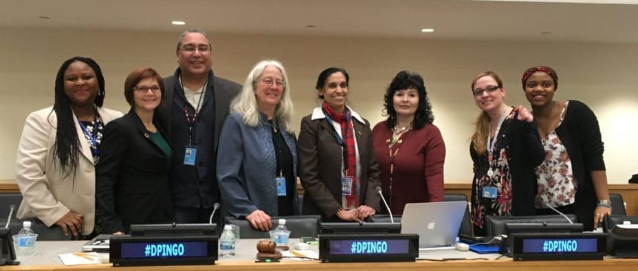Our full crew: Women as Roots of Change DPI/NGO Session at CSW61